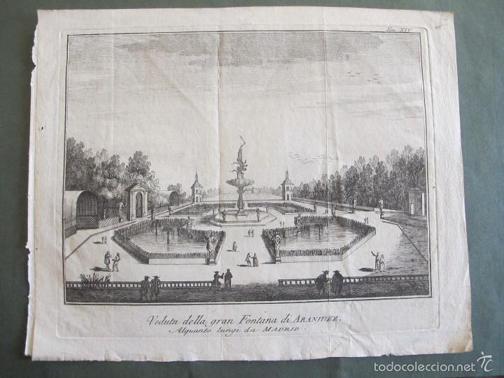 ARANJUEZ-VEDUTTA DELLA GRAN FONTANA DI ARANJUEZ (Arte - Grabados - Antiguos hasta el siglo XVIII)