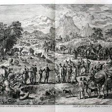 Arte: 1729 - GRABADO BIBLIA - JOSE VENDIDO POR SUS HERMANOS - LUYKEN - 58X52CM - ENGRAVING. Lote 55919357