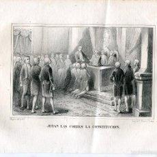 Arte: «JURAN LAS CORTES LA CONSTITUCIÓN» DIBUJÓ Y LITOGRAFIÓ MUGICA. Lote 55930591