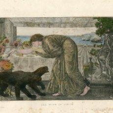 Arte: «THE WINE OF CIRCE» GRABADO POR J.PAYRAU COPIA DE BURNE-JONES. Lote 55930797