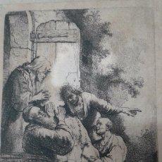Arte: GRABADO DE REMBRANDT HARMENSZOON VAN RIJN (1606 – 1669). Lote 55998023