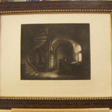Arte: GRABADO DE REMBRANDT DE 1906 ENMARCADO. Lote 56011620
