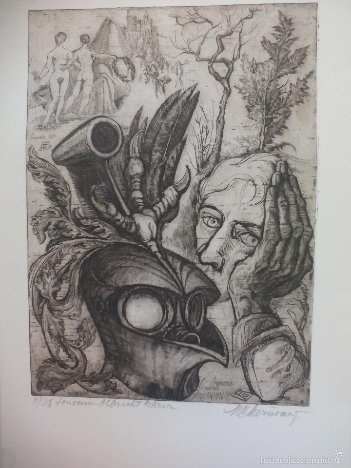 GRABADO DE TÍTULO ' SOUVENIR ALBRECH DÜRER' DESCONOZCO EL AUTOR, ES EL 11 DE 25. (Arte - Grabados - Contemporáneos siglo XX)