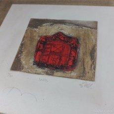 Arte: IMPORTANTE GRABADO AGUAFUERTE Y CARBORUNDUM - OBRA TITULADA SELLO - SERIE LIMITADA - 1/20 - FIRMADO . Lote 56150701