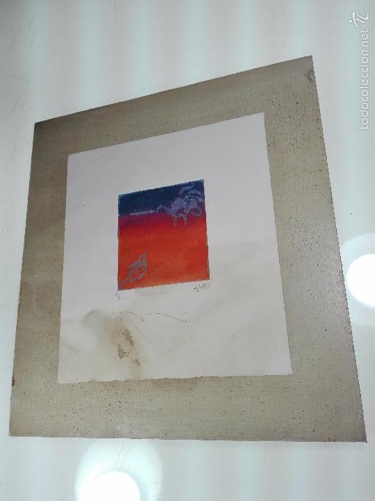 INTERESANTE GRABADO AGUAFUERTE - OBRA TITULADA ENCUENTRO - P/A - FIRMADO - 96 - (Arte - Grabados - Contemporáneos siglo XX)