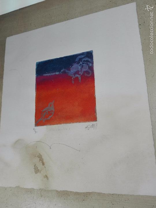 Arte: INTERESANTE GRABADO AGUAFUERTE - OBRA TITULADA ENCUENTRO - P/A - FIRMADO - 96 - - Foto 2 - 56150928