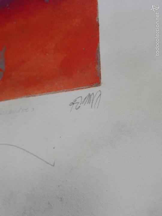 Arte: INTERESANTE GRABADO AGUAFUERTE - OBRA TITULADA ENCUENTRO - P/A - FIRMADO - 96 - - Foto 5 - 56150928