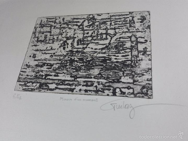 ORIGINAL GRABADO AGUAFUERTE - OBRA TITULADA MIROUR D'UN MOMENT - EE1 - FIRMADO - (Arte - Grabados - Contemporáneos siglo XX)
