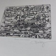 Arte: ORIGINAL GRABADO AGUAFUERTE - OBRA TITULADA MIROUR D'UN MOMENT - EE1 - FIRMADO - . Lote 56151171