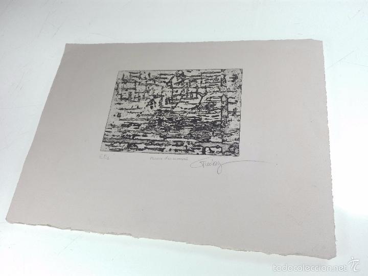 Arte: ORIGINAL GRABADO AGUAFUERTE - OBRA TITULADA MIROUR DUN MOMENT - EE1 - FIRMADO - - Foto 2 - 56151171