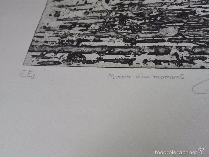 Arte: ORIGINAL GRABADO AGUAFUERTE - OBRA TITULADA MIROUR DUN MOMENT - EE1 - FIRMADO - - Foto 3 - 56151171