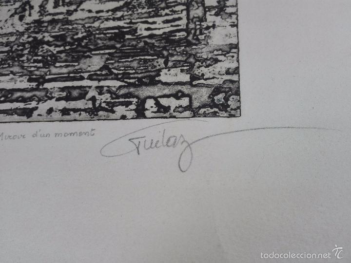 Arte: ORIGINAL GRABADO AGUAFUERTE - OBRA TITULADA MIROUR DUN MOMENT - EE1 - FIRMADO - - Foto 4 - 56151171