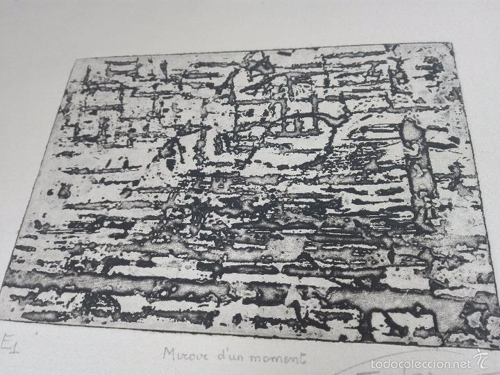 Arte: ORIGINAL GRABADO AGUAFUERTE - OBRA TITULADA MIROUR DUN MOMENT - EE1 - FIRMADO - - Foto 5 - 56151171