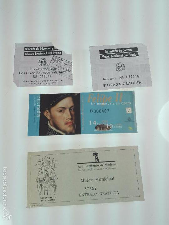 LOTE DE 4 ENTRADAS MUSEOS - MUSEO DEL PRADO - MUSELO MUNICIPAL - (Arte - Grabados - Contemporáneos siglo XX)