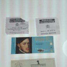Arte: LOTE DE 4 ENTRADAS MUSEOS - MUSEO DEL PRADO - MUSELO MUNICIPAL - . Lote 56159312