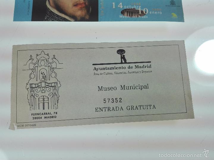 Arte: LOTE DE 4 ENTRADAS MUSEOS - MUSEO DEL PRADO - MUSELO MUNICIPAL - - Foto 2 - 56159312