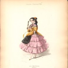 Arte: GRABADO ANTIGUO SIGLO XIX: LA MANOLA (MADRID) CA. 1850. Lote 56160772