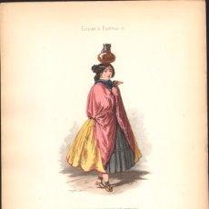 Arte: GRABADO ANTIGUO SIGLO XIX: MUJER DE LAS CERCANÍAS DE VITORIA. CA. 1850. Lote 56160822