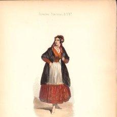 Arte: GRABADO ANTIGUO SIGLO XIX: CURRA DE SEVILLA. CA. 1850. Lote 56160875