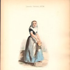 Arte: GRABADO ANTIGUO SIGLO XIX: MUJER DE FELANITX (FELANICH). CA. 1850. Lote 56160944