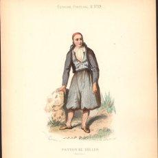 Arte: GRABADO ANTIGUO SIGLO XIX: AGRICULTOR DE SOLLER. CA. 1850. Lote 56161005
