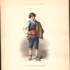 Arte: GRABADO ANTIGUO SIGLO XIX: AGRICULTOR DE NAVARRA. CA. 1850. Lote 56161064