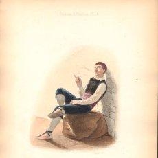 Arte: GRABADO ANTIGUO SIGLO XIX: HABITANTE DE VIZCAYA. CA. 1850. Lote 56161128