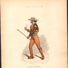 Arte: GRABADO ANTIGUO SIGLO XIX: PICADOR DESMONTADO. CA. 1850 (TOROS TAUROMAQUIA). Lote 56161291