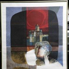 Arte: ALVAR SUÑOL, GRAN LITOGRAFÍA 70X95 CM, ENMARCADA. Lote 56172555