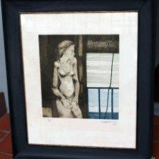 Arte: AGUILAR MORE, GRABADO DE 1997, ENMARCADO. Lote 56172930