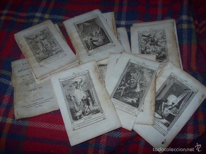 MAGNÍFICO LOTE DE GRABADOS PERTENECIENTES AL EJEMPLAR CATECISMO DE LOS PADRES RIPALDA Y ASTETE.1800 (Arte - Grabados - Modernos siglo XIX)