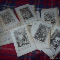 Arte: MAGNÍFICO LOTE DE GRABADOS PERTENECIENTES AL EJEMPLAR CATECISMO DE LOS PADRES RIPALDA Y ASTETE.1800. Lote 56175351