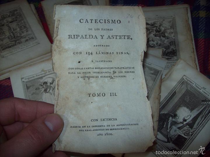 Arte: MAGNÍFICO LOTE DE GRABADOS PERTENECIENTES AL EJEMPLAR CATECISMO DE LOS PADRES RIPALDA Y ASTETE.1800 - Foto 2 - 56175351
