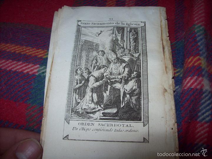 Arte: MAGNÍFICO LOTE DE GRABADOS PERTENECIENTES AL EJEMPLAR CATECISMO DE LOS PADRES RIPALDA Y ASTETE.1800 - Foto 9 - 56175351