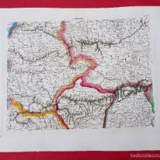 Arte: CORDOBA - 1839 - MAPA DE ESPAÑA Y PORTUGAL - HOJA Nº 10 - GRABADO COLOREADO A MANO. Lote 56263227