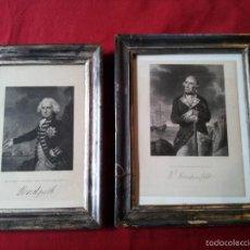 Arte: PAREJA DE GRABADOS DE MILITARES 1840. Lote 56333948