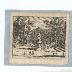 Arte: 1707 - ARANJUEZ - FUENTE DE BACO - VUE DE LA FONTAINE DE BACHUS - PIETER VAN DER AA. Lote 56388504