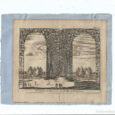 Arte: 1707 ARANJUEZ - PARTERRES FUENTE DE LOS LOCOS PARTERRES ET FONTAINES DES FOLLIES - PIETER VAN DER AA. Lote 56388876