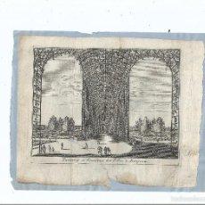 Arte: 1707 ARANJUEZ - PARTERRES FUENTE DE LOS LOCOS PARTERRES ET FONTAINES DES FOLLIES - PIETER VAN DER AA. Lote 56389116