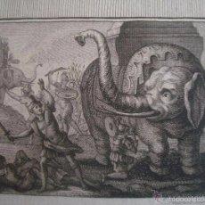 Arte: GRABADO BÍBLICO DE LA MUERTE DE ELEAZAR. S. XVIII. MEDIDAS 22 X 14 CM.. Lote 56400738