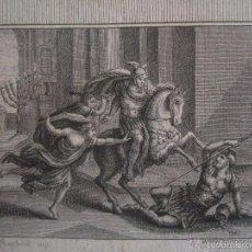 Arte: GRABADO BÍBLICO DE HELIODORO. SIGLO XVIII. MEDIDAS 22 X 14 CM.. Lote 56400882
