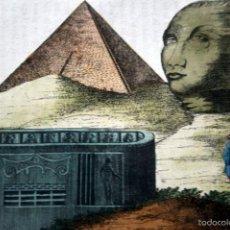 Arte: 1840 - EGIPTO - GRABADO DE PIRAMIDES - ESFINGES - COLOREADO A MANO - ILUMINADO. Lote 56404932