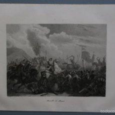Arte: 1854 - BATALLA DE MONTJUIC - GRABADO - GRABADOR A. ROCA - MARCA DE PLANCHA. Lote 56465599