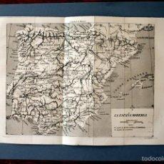 Arte: 1854 - MAPA DE ESPAÑA - GRABADO - GRAVURE - ENGRAVING. Lote 56466006