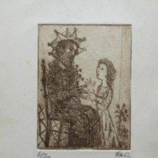 Arte: MIGUEL IBARZ GRABADO PUNTA SECA 16,5 X 21 CM. EJEMPLAR 6/20. FELICITACIÓN NAVIDAD. FIRMADO.. Lote 56509714