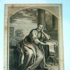 Arte: ANTIGUO GRABADO AGUAFUERTE.SAN MATEO OBRA DE BOUCHER. GRABADO POR L. JACOB. SIGLO XVIII ORIGINAL. Lote 56587190