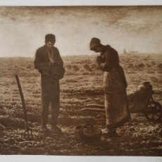 Arte: JEAN-FRANCIS MILLET: L´ANGELUS, HELIOGRABADO DE LA COLECCIÓN CHAUCHARD / PARÍS 1911. Lote 56598324