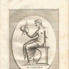 Arte: 85 GRABADOS DE MÁSCARAS ROMANAS UTILIZADAS EN EL TEATRO AÑO 1750 ROMA SIGLO XVIII OBRA COMPLETA. Lote 56671561
