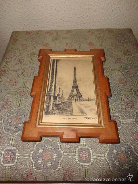pequeño grabado torre eiffel paris - f. roux - - Comprar Grabados ...