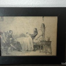 Arte: GRABADO ORIGINAL,ENMARCADO EN 16X21CM DE DON QUIJOTE.PERTENECE A QUIJOTE 1ª ED.MONTANER SIMON. Lote 56714696